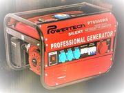 Powertech PT6500WS Stromerzeuger Benzin Generator