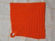 Topflappen Topfuntersetzer Einzelstück orange