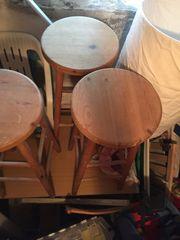 3 Barhocker Holz