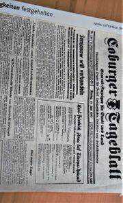 Geburtstagsgeschenk-Geburtstagszeitung Coburger Tageblatt