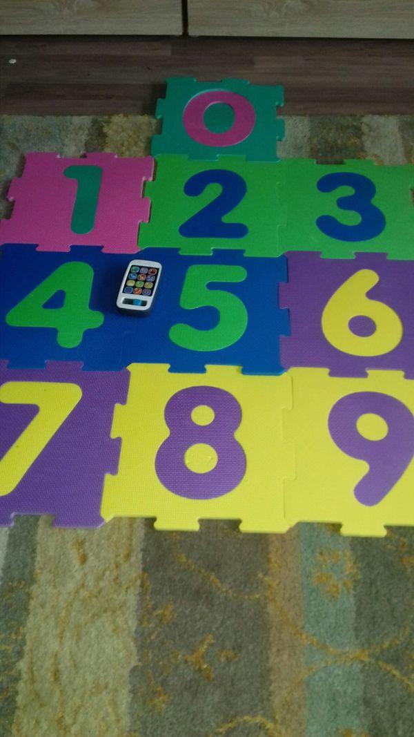 Schaumgummi-Puzzle Zahlen und Spiel-Handy