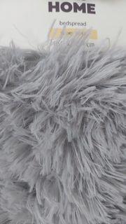 Kuscheldecke Langhaar Decke grau 160x200