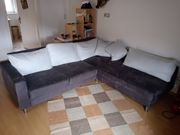Couch in Veloursleder 250x210 Dunkelgrau