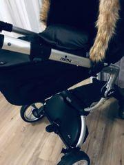 Mima Kinderwagen schwarz mit Winterpaket