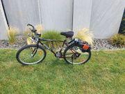 MTB Fahrrad mit Freischneidermotor am
