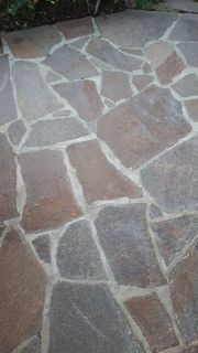 Porphyr Polygonalplatten rot braun Terrassenplatten