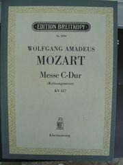 Klavierauszug Krönungsmesse von Mozart