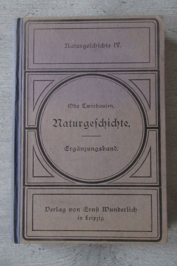 Naturgeschichte anno 1911