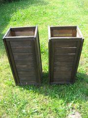 2x Blumenkasten aus Holz Hochkasten