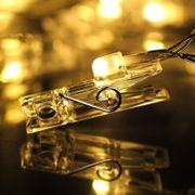 LED Fotoclips Lichterkette