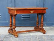 Schreibtisch Gründerzeit Tisch Nussbaum Alt
