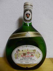 Boxbeutel Wein Flasche - 1993 Becksteiner