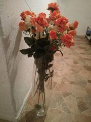Blumen Vase inkl künstlichen Blumen