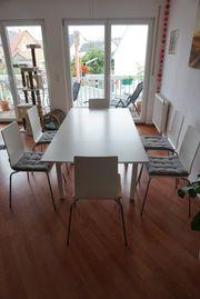 Ikea-Esstisch und 6 Stühle