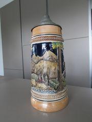 Bierkrug Bierseidel Berchtesgaden mit Zinndeckel