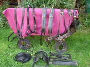 Komplettes Zweispänner- Pferdegeschirr Größe COB