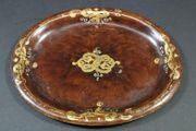 Antik Tablett Blech Gold Malerei