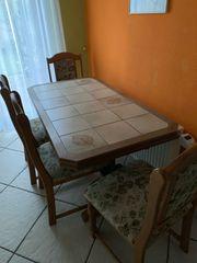 Esstisch mit 4 Stühlen auszieh