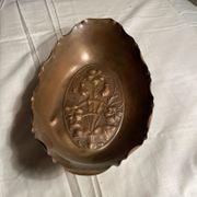 Antike Kupfer Schale mit Muster