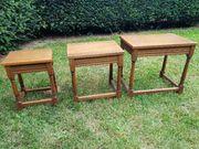 Alte Beistelltische Holz