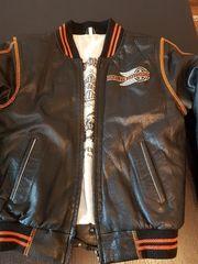 Leder Bomberjacke von Harley Davidson