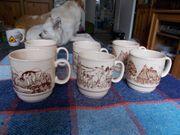6 Kaffeetasen mit 3 Motiven