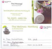 Gutscheine Geschenke Thaimassage Wellness Thai