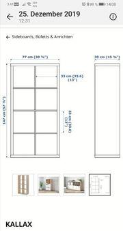Kallax Regal von Ikea Birke