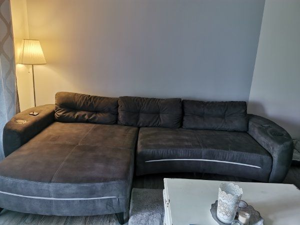 Sofa Couch Polster Garnitur Funktionsecke