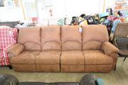 Sofa Couch braun aus Stoff -