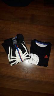 Adidas Sweatjacke und T-Shirt gr