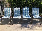 MHW Streckmetall Gartenmöbel 4 Stühle