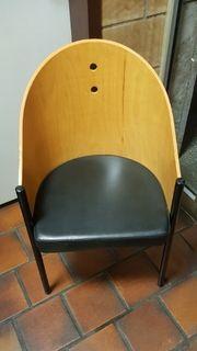 20 schwarz braune Metallstühle Holzstühle