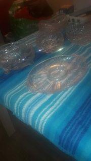 Verschiedene originale Kristallglas Schalen und
