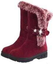 Damen Stiefel Gefütterte Winter Schuhe
