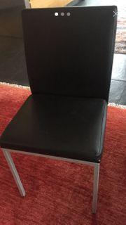 5 Stühle Lederimitat schwarz Stuhl