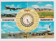 Gelaufene Postkarte vom Flughafen Frankfurt