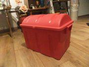 Rote Schatztruhe - Truhe - Kiste - Box - Spielzeug-Box