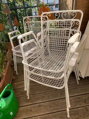 Vintage Gartenstühle Set 5