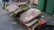 Rote Sansteinplatten