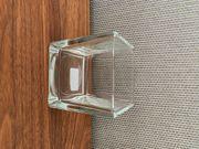 Teelichthalter Glas 8x8x8cm konisch