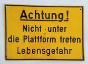 Hinweisschild Blechschild Warntafel Metall Achtung
