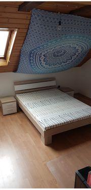 Futonbett inklusive 2 Nachtkommoden