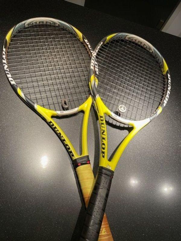 2 Dunlop Tennisschläger aerogel