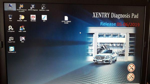 HDD mit Mercedes Xentry Das ver 05 2019 EPC Wis EPC für C4