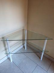 Dreieck Glas Beistelltisch Couchtisch Sicherheitsglas