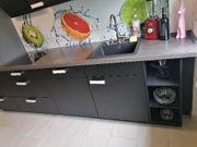 Nolte Küche schwarz matt