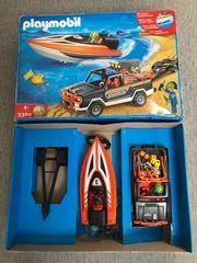 Playmobil Jeep mit Hänger und
