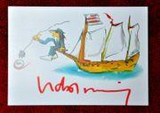 UDO LINDENBERG handsignierte rare Autogrammkarte