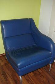 Design Sessel Relaxsessel ausklappbar blau